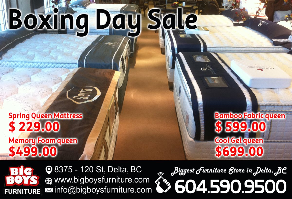 Boxing Week Big Sales Event Big Boys Furniture