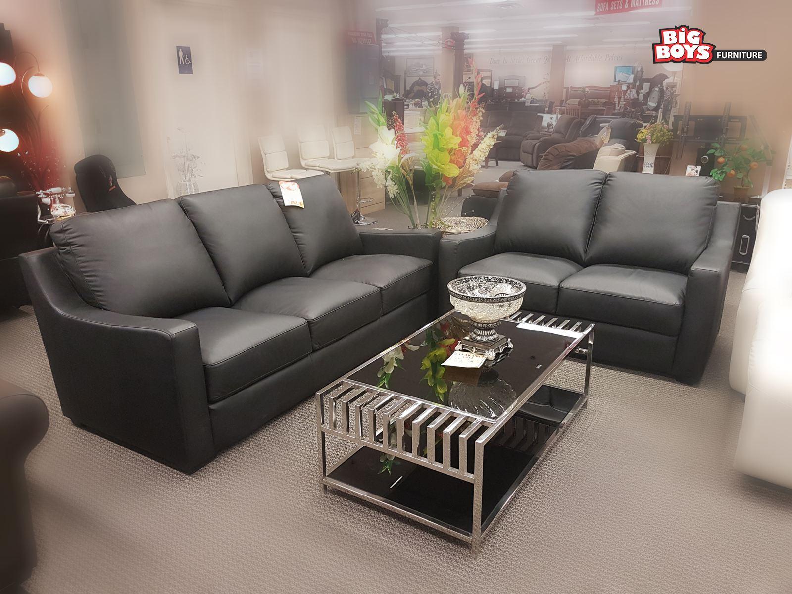 Black sofa sets in different designs