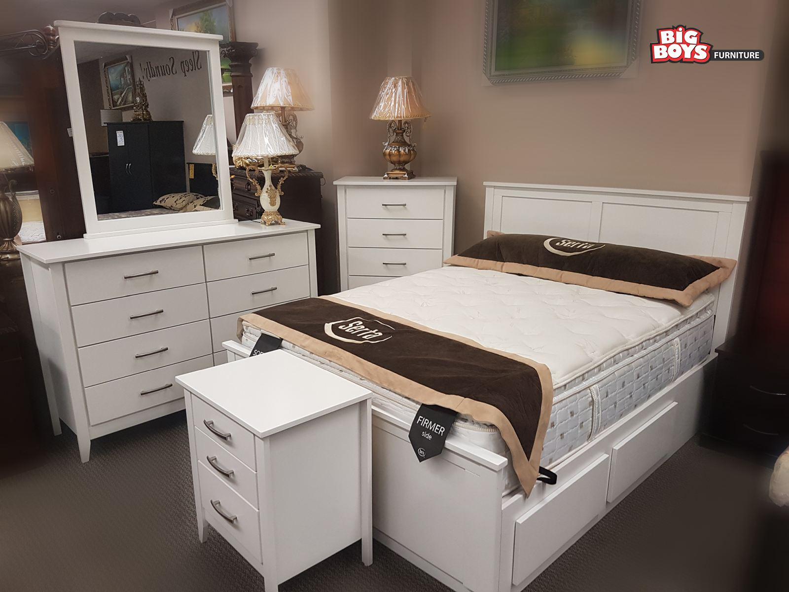 Beautiful white Bedroom Suite at Big Boys Furniture