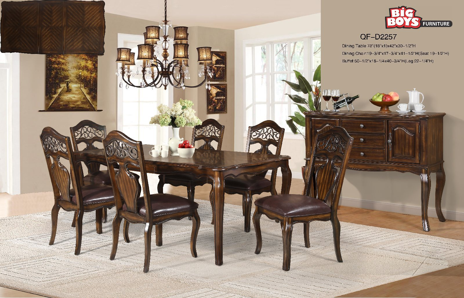 Dining set s at best prices available at Big Boys Furniture Delta/Surrey