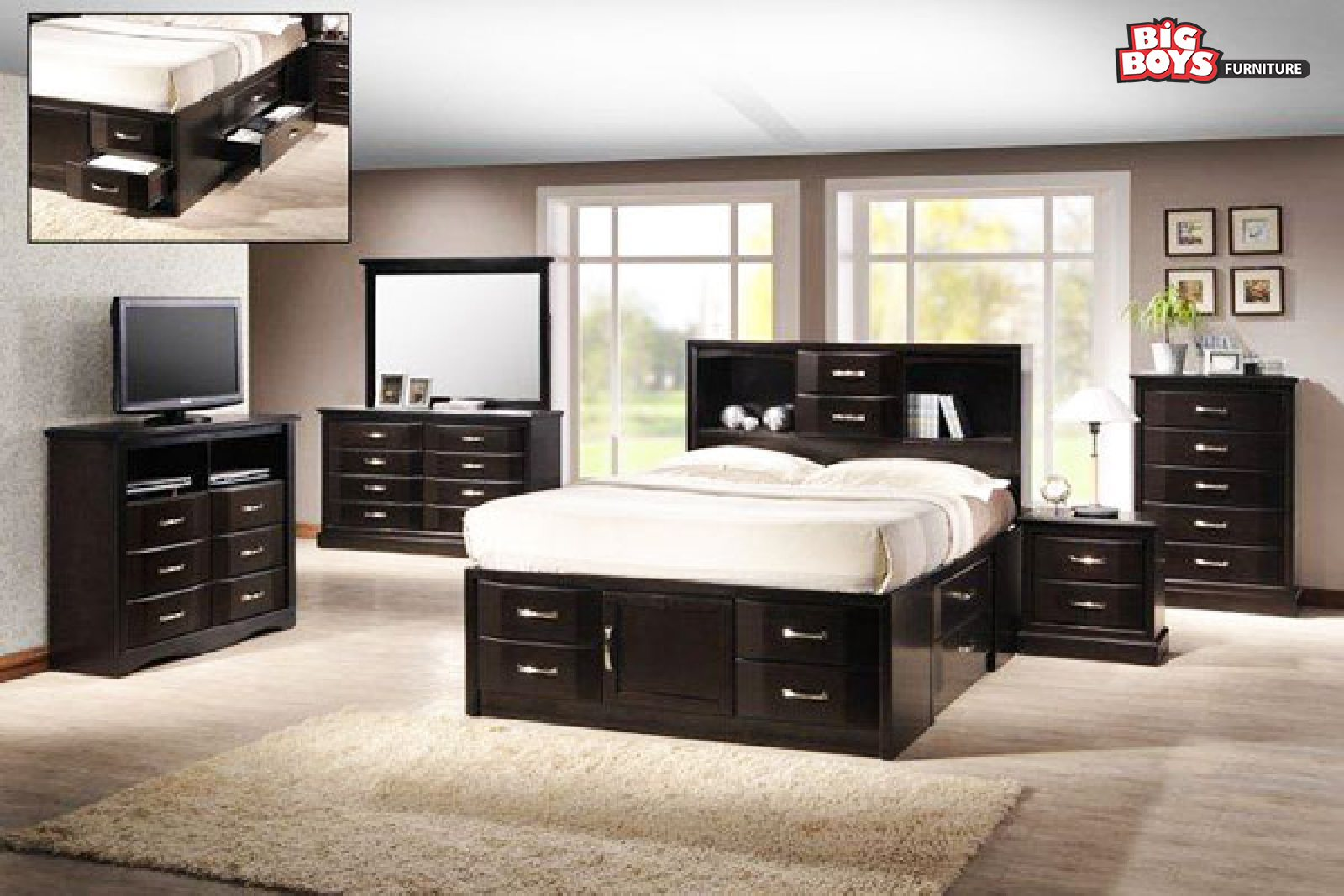 Bedroom Suites in black Big-Boys-Furniture-Delta