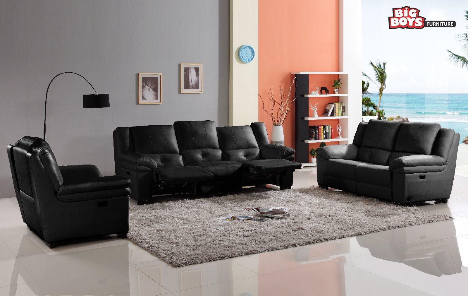 Black Sofa set Big-Boys-Furniture-Delta