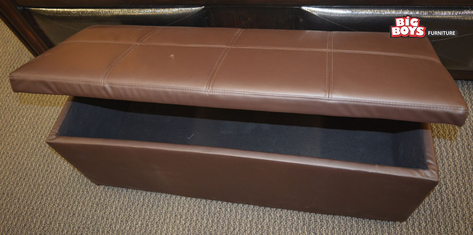 Stylish Ottoman and Bench with storage box available at Big Boys Furniture Delta/Surrey