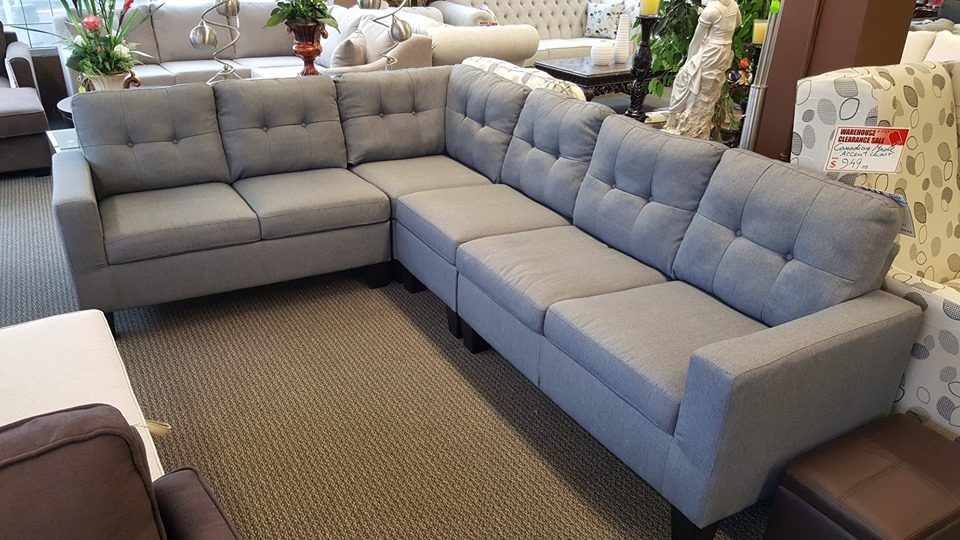 BRAND NEW  4 PIECE REVERSIBLE FABRIC SECTIONAL-BBRS0003