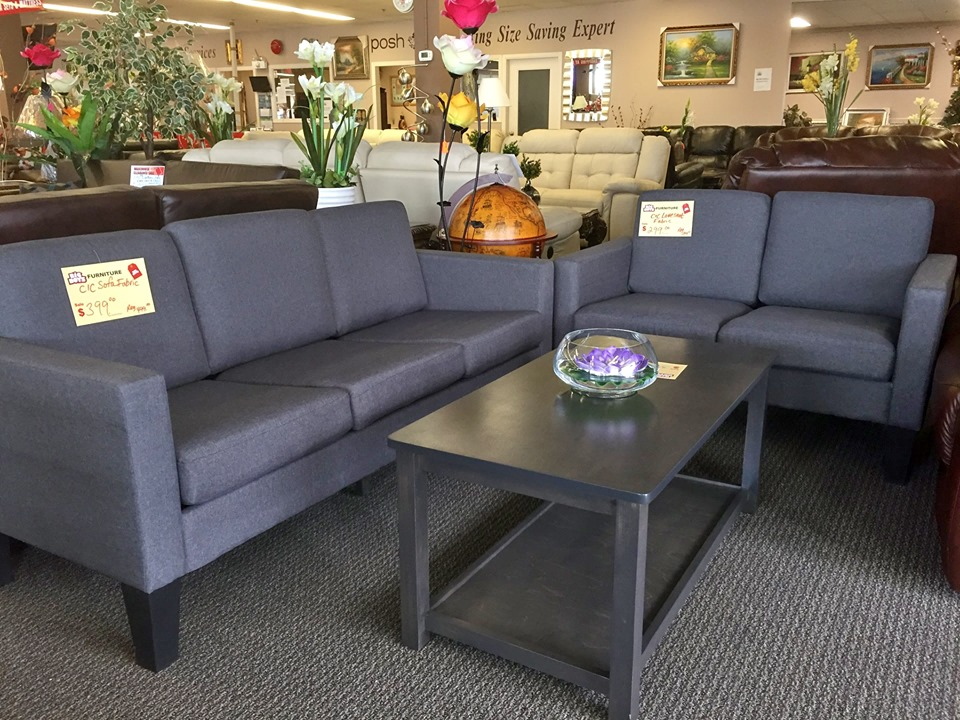 BRAND NEW GREY SOFA AND LOVE SEAT-BBSL0001