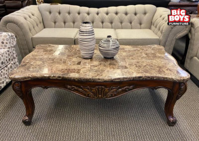 Brown Marble Coffee Table