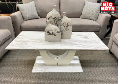 Faux Grey Marble Rectangle Coffee Table