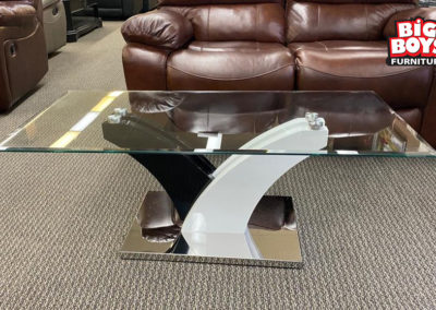 Glass and Acrylic Rectangle Coffee Table