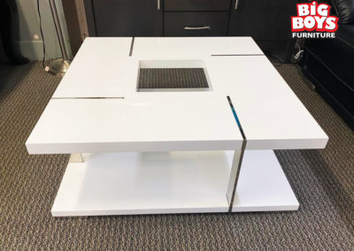 White Acrylic Square Coffee Table